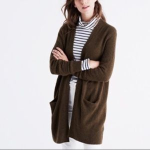 Madewell Ryder Cardigan in Olive